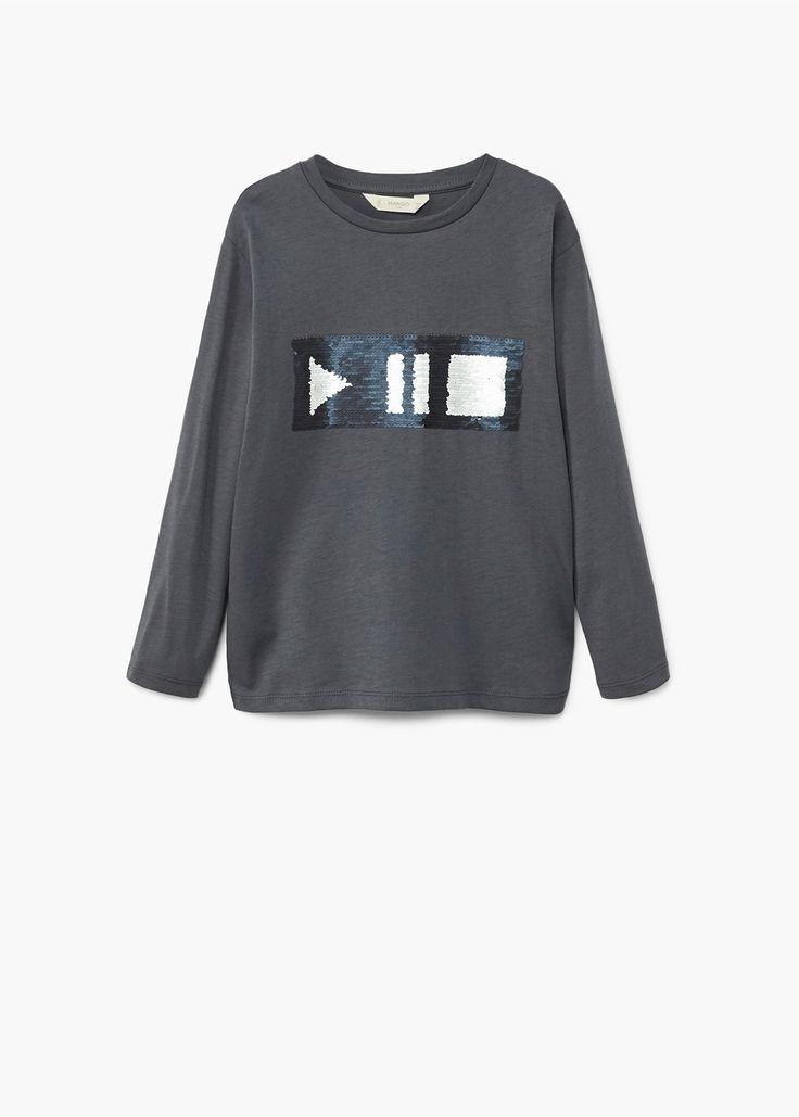 Camiseta lentejuelas reversibles