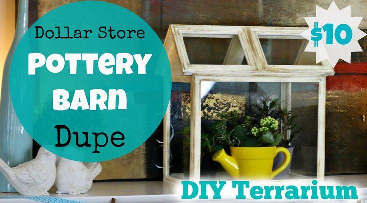 Dollar Store Pottery Barn Dupe – DIY Terrarium