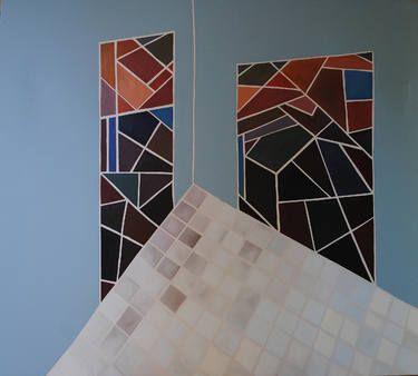 "Saatchi Art Artist NIKOS LAMPRINOS; Painting, ""''outside''"" #art"