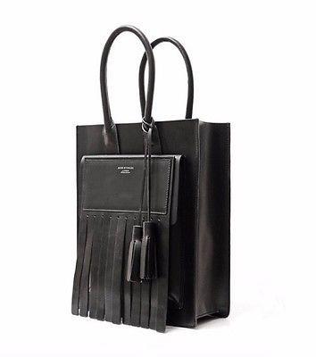 Acne-Studios-Medium-Tote-Bag-Oil-cowhide-black-leather