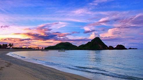 Sunset in Pantai Kuta Lombok