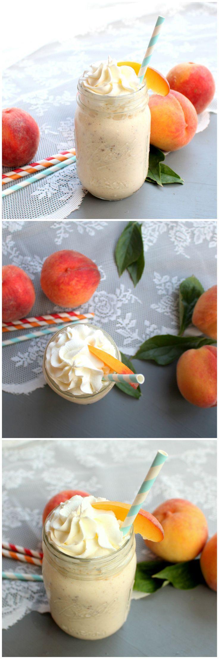 Brown Butter Peach Milkshake | www.chocolatewithgrace.com | #peach #milkshake