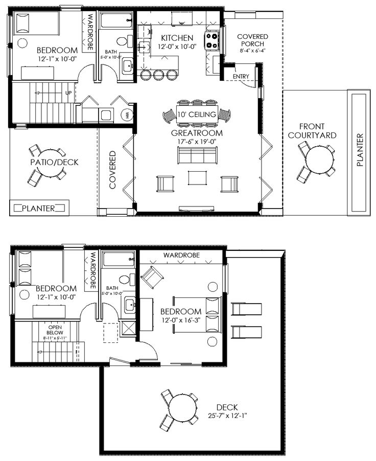small house plan small contemporary house plan modern cabin plan apartment minimal - Small House Plan