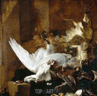 "Jan Baptist Weenix (1621 -1660) ""Натюрморт с мёртвым лебедем"". 1651 год."