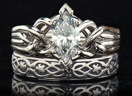 celtic puzzle ring marquise diamond marquise diamond puzzle engagement ring with 072ct diamond and - Viking Wedding Rings