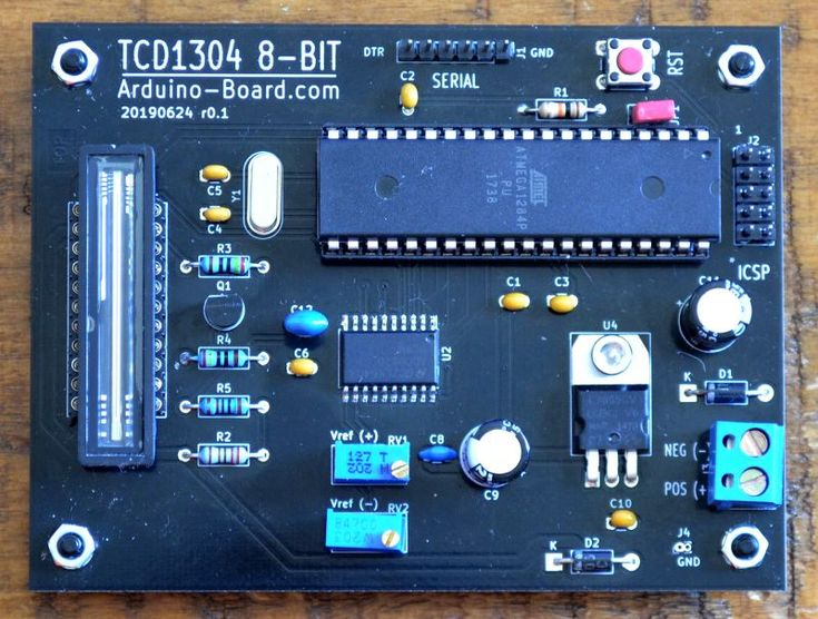 Arduino 8-bit Spectrograph project update