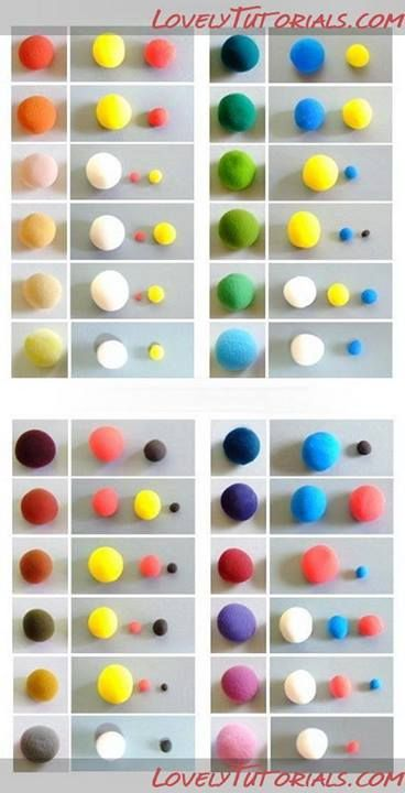 color charts...awesome help to find the right color for your fondant/icing.
