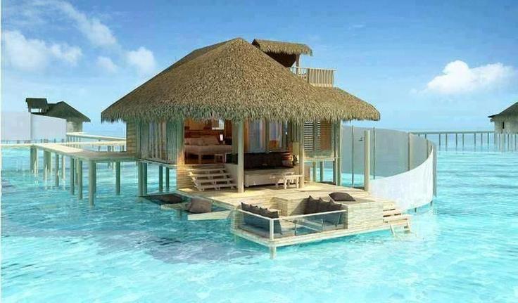 Talk about sunken living room...