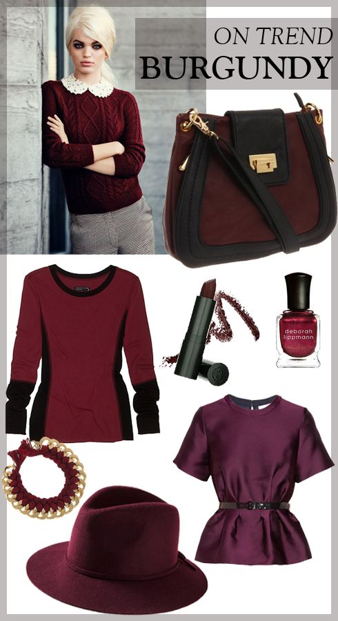 MadeByGirl: Fashion: Burgundy