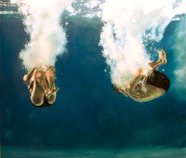 Oil Painting by Eric Zener Eric Zener is aCalifornia-based artist who creates inspiring super realistic oil paintings. #underwater #art