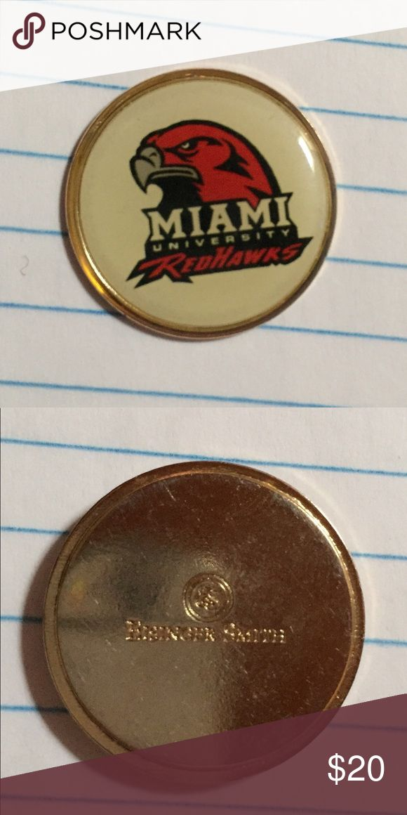Vintage Miami University RedHawks golf ball marker Vintage Miami University  RedHawks golf ball marker  Made in USA  By Eisinger Smith  Great condition! Eisinger Smith Other
