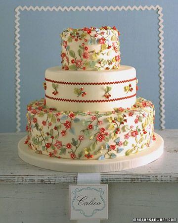 Calico Wedding Cake