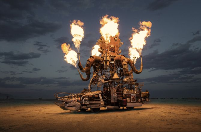 Photographer Scott London traveled to the Nevada desert with his girlfriend and returned to Burning Man every year for the last 12.