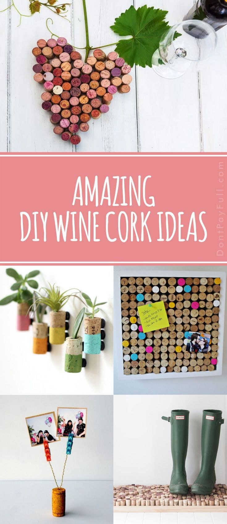 Amazing Wine Cork Crafts! #DontPayFull