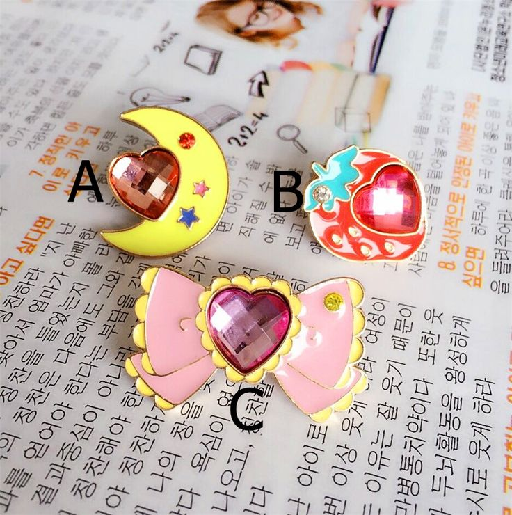 Wholesale girls birthday party series bowknot strawberry moon peach heart brooch brooches gift free shipping!