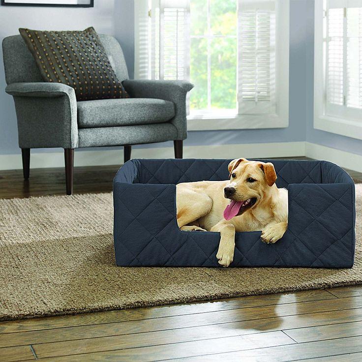 Surefit Deep Pile Portable XLarge Pet Bed In Storm Blue