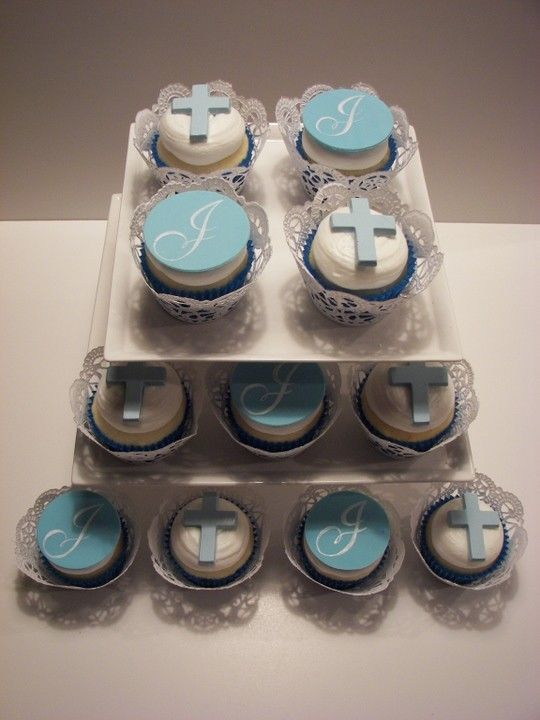 @Erika * Serrano & @Denise H. W These are cute for the kids Baptism: Cupcakes (in pink for girls)