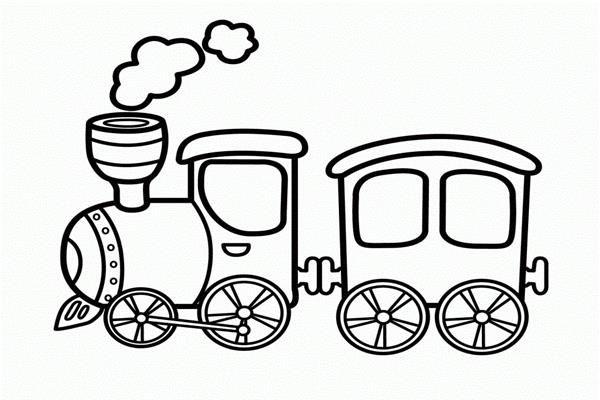 Mewarnai Gambar Gerbong Kereta Api Dengan Gambar Buku Mewarnai