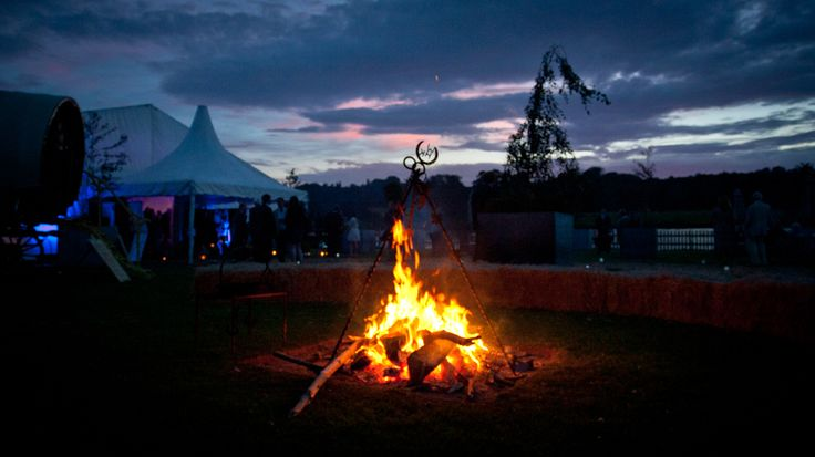 Stones Events - Private Party - Belvoir Castle Marquee - Fire Pit - Marquee