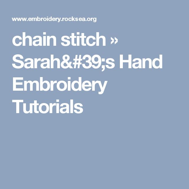 how to end a chain stitch embroidery