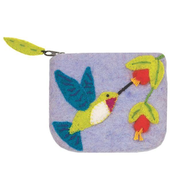Felt Coin Purse - Hummingbird Handmade and Fair Trade
