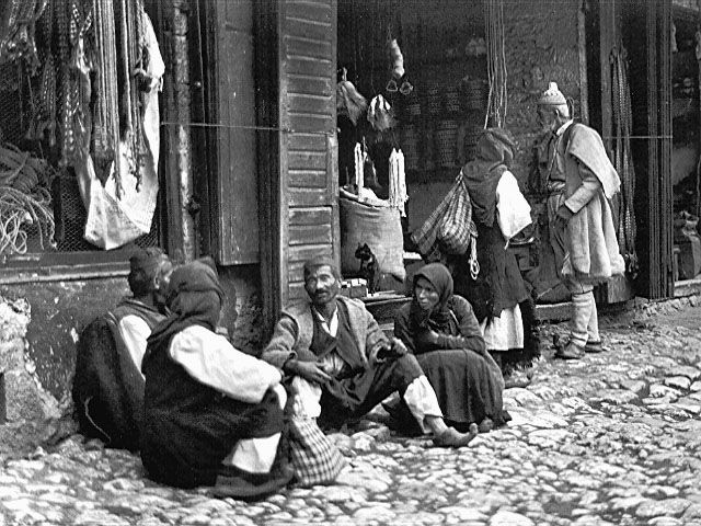 Paramythia's marketplace, Epirus, Greece, 1915, Fred Boissonnas