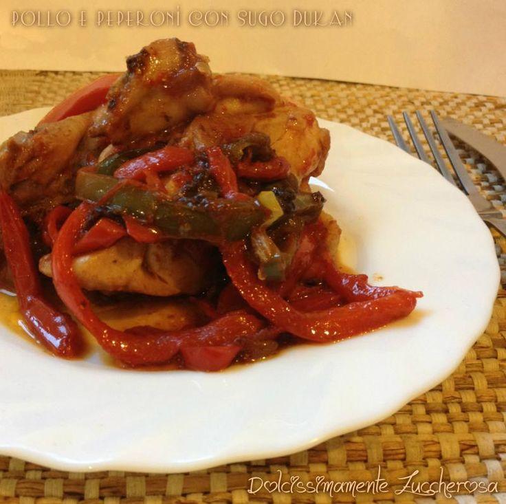 Pollo e peperoni con sugo Dukan ricetta light | Dolcissimamente Zuccherosa
