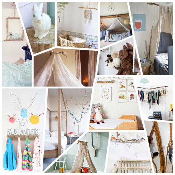 14 Kid's Decoration Ideas with Sticks, Branches and Logs - Petit & Small