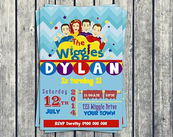Personalized The New Wiggles PRINTABLE Invitations Invites