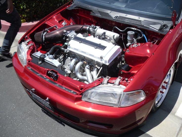 Red Civic EG6 B16 Engine by Predator11 on deviantART