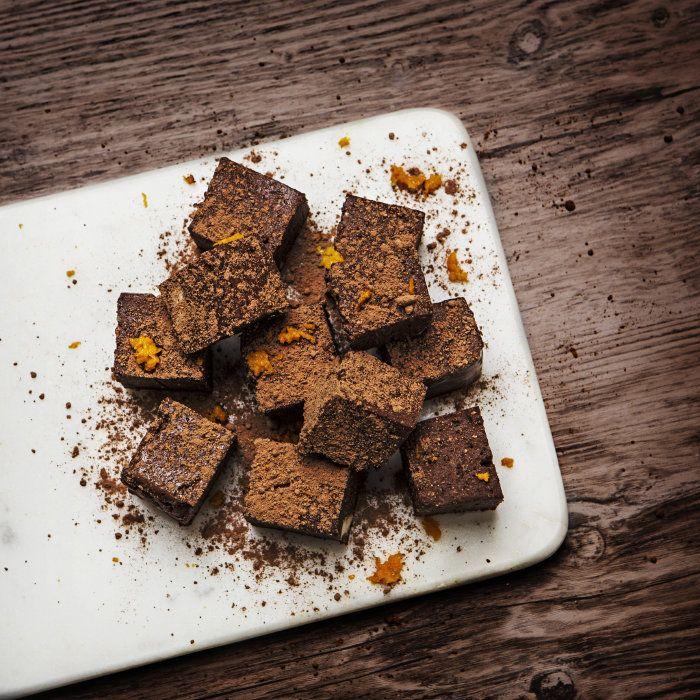 Raw julgodis Choklad- och apelsinfudge