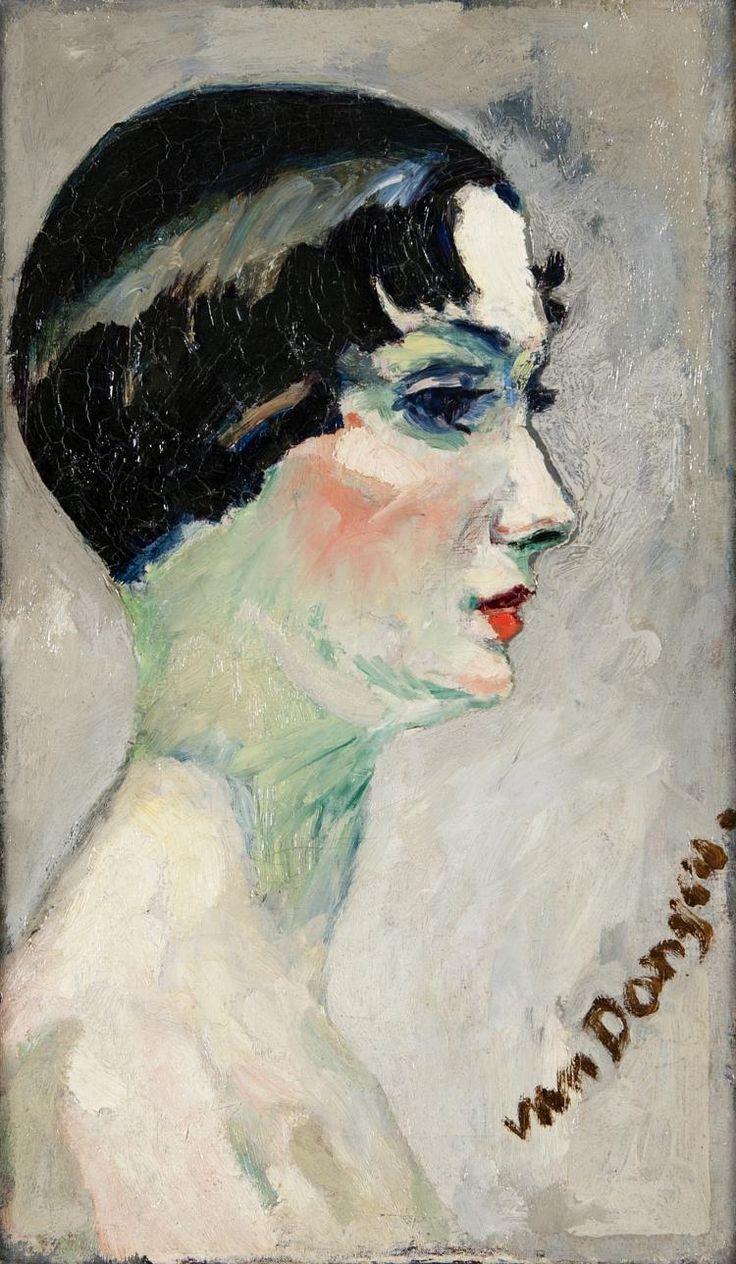 Kees van Dogen (Dutch, 1877-1968) - Female face in profile, N/D