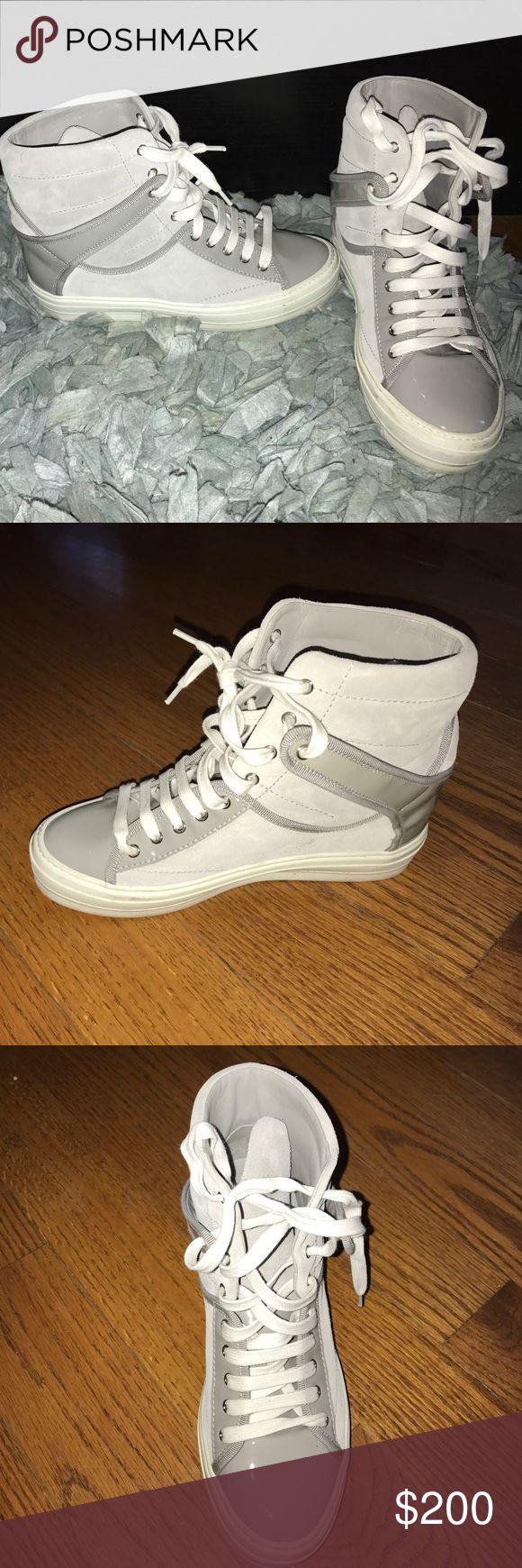 Selling this Salvatore Ferragamo wedge sneakers on Poshmark! My username is: classicacosta. #shopmycloset #poshmark #fashion #shopping #style #forsale #Salvatore Ferragamo #Shoes