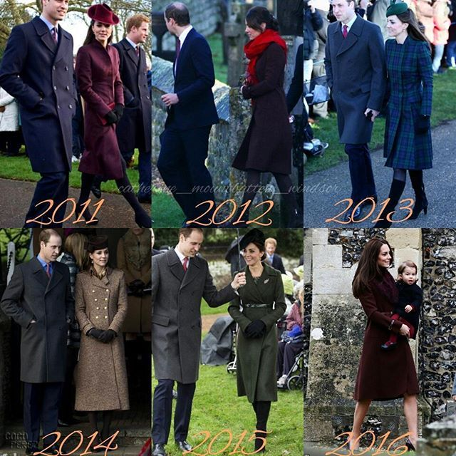 Catherine on Christmas Day since becoming the Duchess of Cambridge ❤Which one is your fave?  #weadmirekatemiddleton #lifeofaduchess #duchessofcambridge