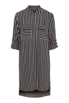 Oversized Stripe Shirt Dress