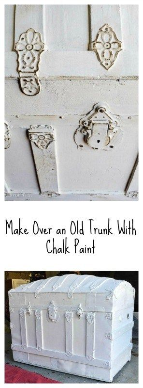 Antique Trunk makeover $100 room challenge week 2- Mudroom Makeover