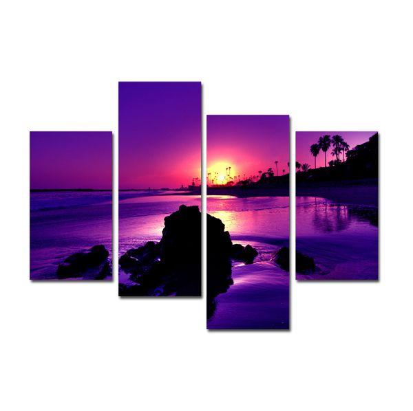 Бесплатная доставка закат с море морской пейзаж печать на холсте картин для украшения стен ( без рамы )