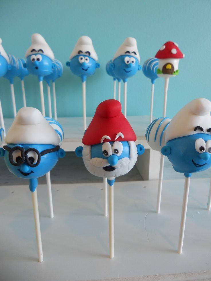 #smurf cake pops