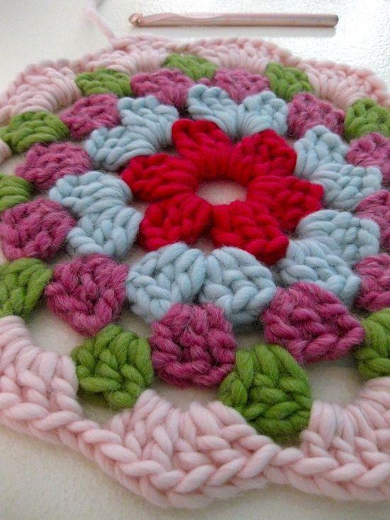 Crochet. Aplicación ganchillo