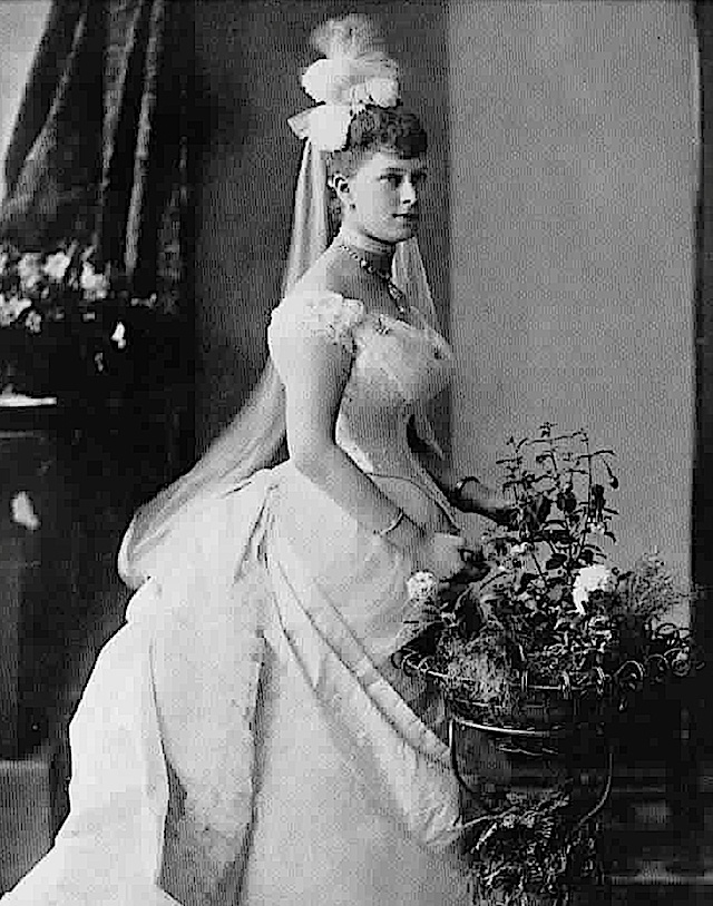 Princess Victoria Mary of Teck (later Queen Mary) in her coming-out dress, 1886