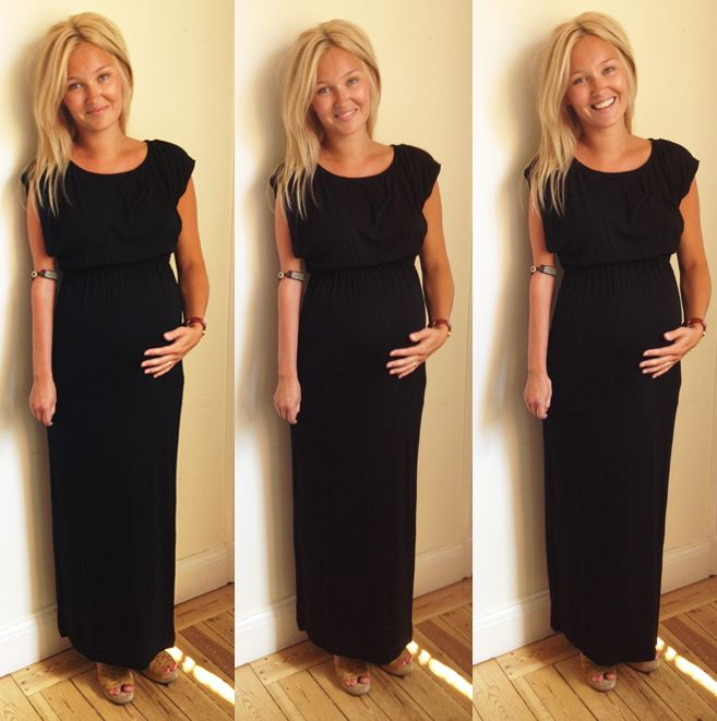Our beautiful model My is rocking our combined pregnancy and nursing maxidress!
