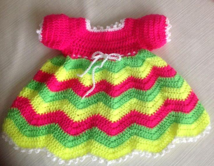 Mejores 344 imágenes de Crochet Dresses for Baby #3 en Pinterest ...