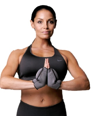 How-to: get Trish Stratus' ripped arms w/ these super easy yoga moves.