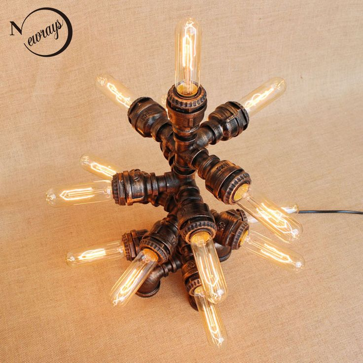 Aliexpress.com : Buy Art deco black workroom 13 lights table lamp e27 vintage Shine desk light sconce for study bedroom bedside workshop office from Reliable light bulbs for touch lamps suppliers on Newrays lighting Factory Store