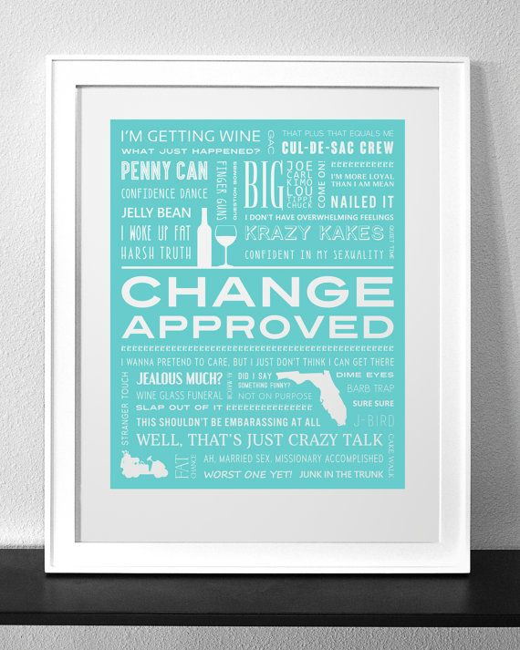 COUGAR TOWN Change Approved Typography Print by HollywoodTypecast
