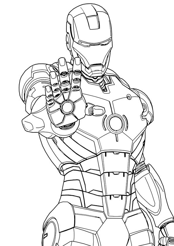 Printable Ironman Coloring Page Superhero Coloring Pages Avengers Coloring Pages Cartoon Coloring Pages
