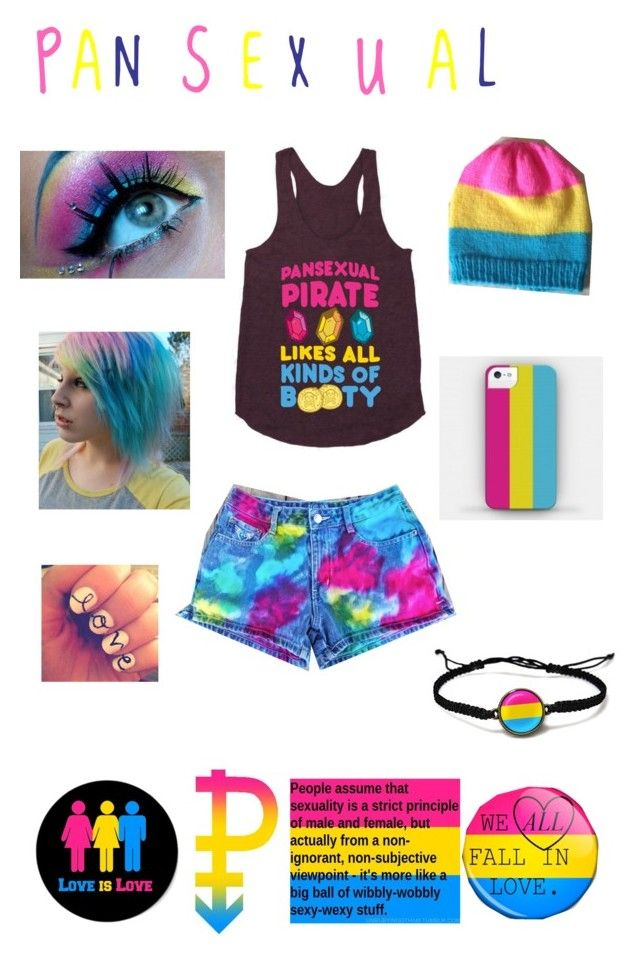Pansexual Pride by screamo-not-satanic on Polyvore featuring polyvore, fashion and style