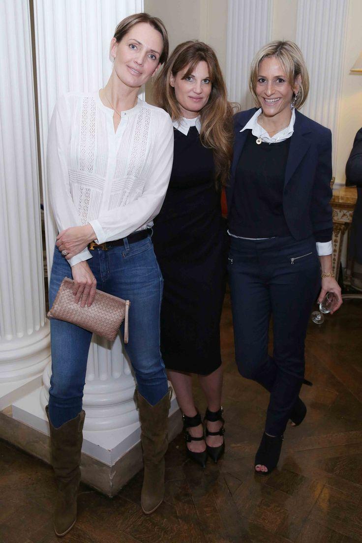 Saffron Aldridge, Jemima Khan  and Emily Maitlis