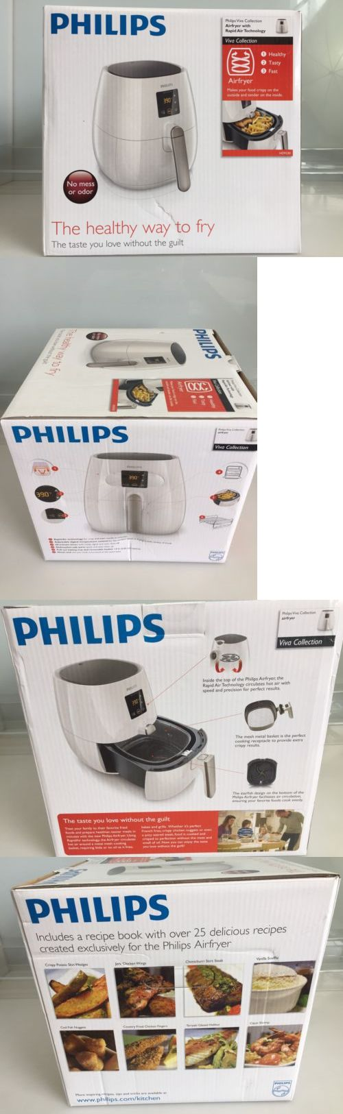Deep Fryers 20674: Philips Viva Collection Digital Airfryer W Rapid Air Technology White Hd9230 56 -> BUY IT NOW ONLY: $214.95 on eBay!