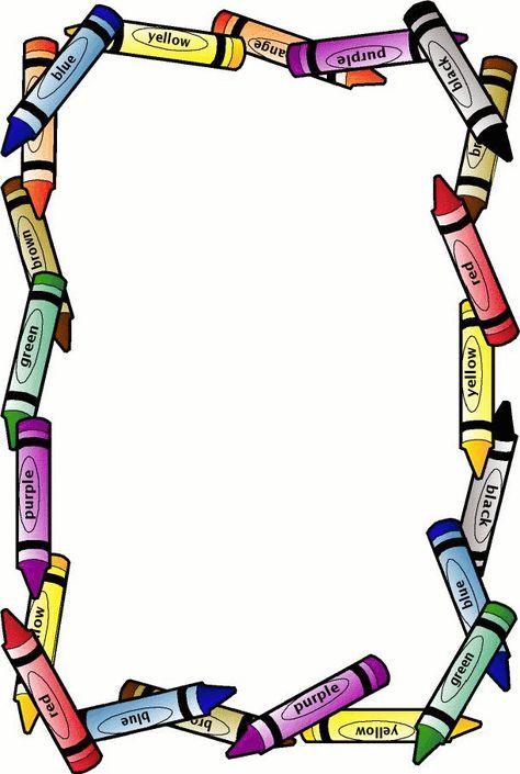 school borders | Crayon Border - Free Page Borders | SpyFind